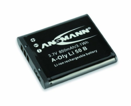 ANSMANN Li-Ion 3.7V Camera Battery Replacement For LI-50B/ LI-92B [Pack of 1] Compatible with Olympus Cameras Incl Olympus SH-21, Stylus Mju 1010, TG-620, Tough 8010 & Many More - 5 Year Warranty