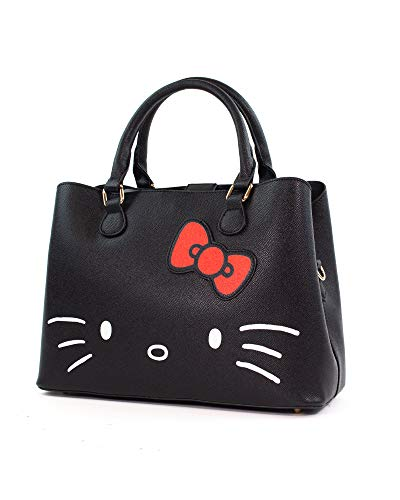 Hello Kitty Hello Kitty Unisex Bolsa de Mano Negro, Poliuretano,
