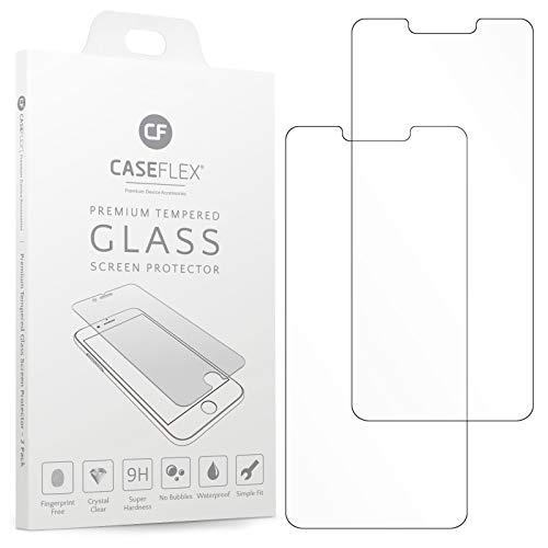 Caseflex Huawei Mate 20 Lite Panzerglas Schutzfolie [2 Stück] - Panzerfolie Kompatibel Für Huawei Mate 20 Lite - 0.3mm - 9H Härte - Antikratz Folie - Ultra Dünne und Klare Glasfolie - GL000014HU