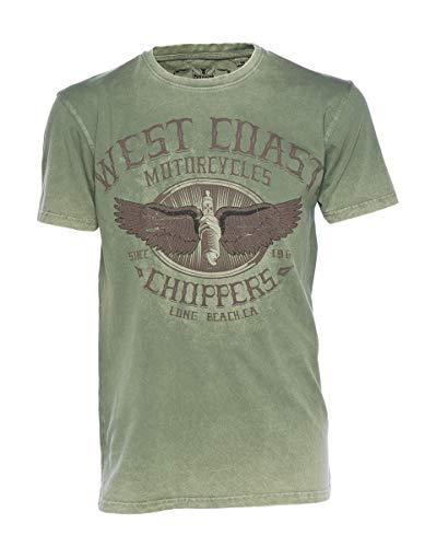 West Coast Choppers T-Shirt Wings Logo Tee, Farbe:green/black;Größe:XL