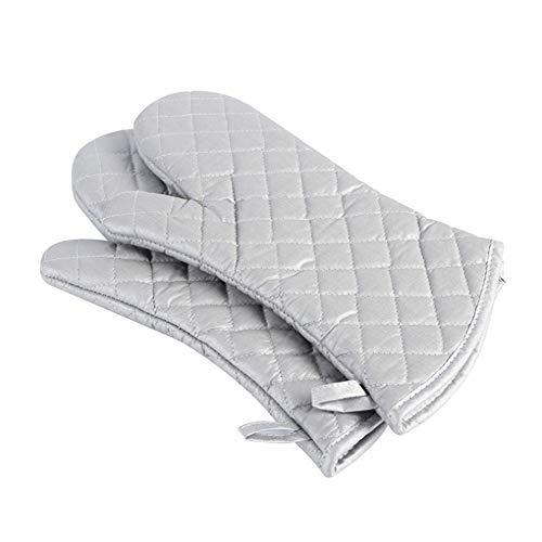 Faneli Silberbeschichtete Baumwollgewebe Hitzebeständig Ofenhandschuhe, Haushalt Bäckerei Hitzebeständigkeit Mikrowelle Backofen Handschuhe