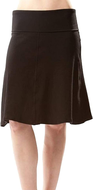 Hard Tail Ribbed Rolldown Knee Skirt
