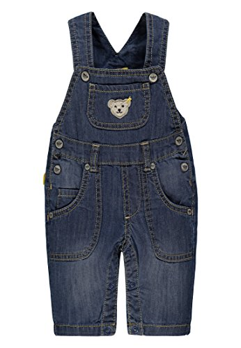 Steiff Collection Jungen Latzhose Jeans 6832502, Blau (Dark Blue Denim 0012), 56