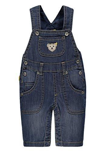 Steiff Collection Jungen Latzhose Jeans 6832502, Blau (Dark Blue Denim 0012), 50