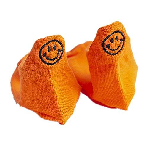 Flywill Kinder Unisex Socken,Kinder Socken aus Baumwolle,Kindersocken für Jungen & Mädchen, Sneaker Socken Niedlich Smiley Socken für 1-12 Jahre, 4 Paare