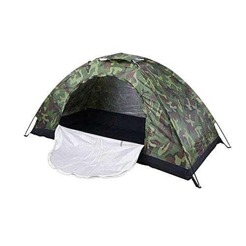 wivarra Outdoor Camping Tent Portable 1Person Waterproof Folding Dome Tent Camouflage for Camping Hiking