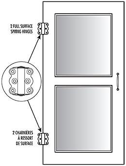 Ideal Security SK919 Self-Closing Hinge Set for Screen Doors Black