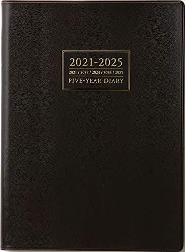 高橋 手帳 2021年 A5 5年卓上日誌 茶 No.61 (2021年 1月始まり)