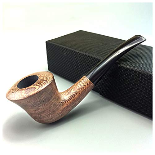 Rokende Pijp Tabak Handmade Chicken Wing Wood Horn Type Pijpen 9mm Activated Carbon Filter Pipe,Luxury package
