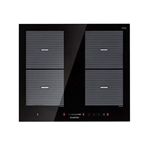 Klarstein Virtuosa Flex 60 - Plaque à induction, Encastrée, 4 zones, 7200 W, Plaque vitrocéramique, 9 niveaux, noir