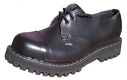 Steels 3 Loch Boots Schwarz, Grösse 45