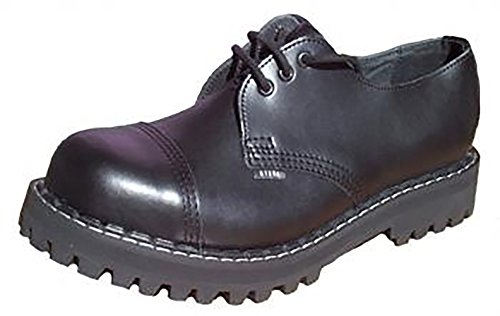 Steels 3 Loch Boots Schwarz, Grösse 42
