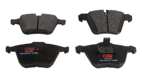 TRW TPC1472 Premium Ceramic Front Disc Brake Pad Set for Jaguar - F-Type, S-Type, Super V8 and other applications