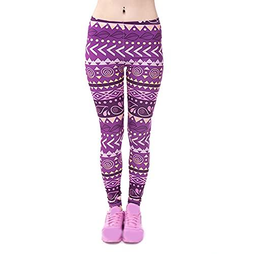 QTJY Pantalones de Yoga Impresos a la Moda, Fitness para Mujeres, Ejercicio, Correr, elásticos, Abdomen, Medias sin Costuras BS