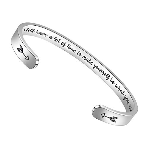 BTYSUN Inspirational Bracelets, Birthday Gifts for Women Inspirational Cuff Bangle Personalized...