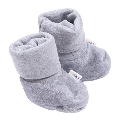 Iobio Pull Ons Babyschuhe Nicki Baumwolle 0-6 Monate (Grau)