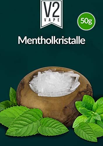 Menthol Kristalle Lebensmittelqualität für E-Zigarette E-Shisha Beutel 50gr für die Herstellung von mentholhaltigen E-Liquids und Aromen