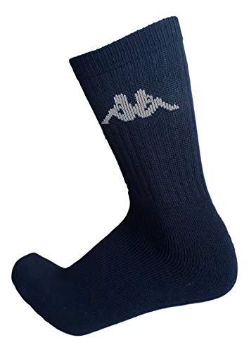 Kappa . 6/12 paia calze calzini, calzini sportivi in spugna, altezza metà polpaccio,calzini tennis,calzini trekking per uomo e donna,vari assortimenti (42-44, 6 paia NERO)
