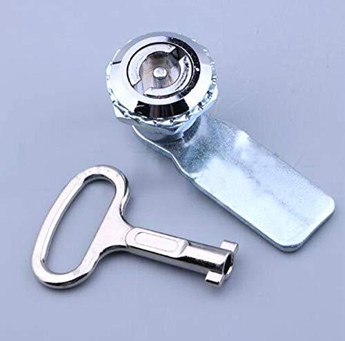 Bloqueo de leva Doble Bit Key Cabinete Clave Lock Una palabra Ala Caja de metal Cerradura de leva-Cilindro de ala