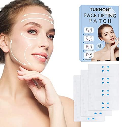 Facelifting Aufkleber,Facelifting Tape,Lift Gesicht Aufkleber,Face Lift Sticker,Unsichtbare Dünne Gesicht Aufklebe,Facelifting Klebeband,Makeup Facelifting Werkzeuge für Doppelkinn V Gesicht,40Stück