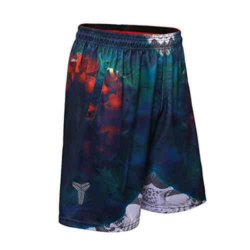 Zarupeng Sportshorts voor heren, sneldrogende joggingbroek, zomer, casual locker, elastische taille, training, fitness, korte broek