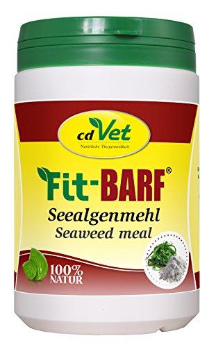 cdVet Naturprodukte Fit-BARF Seealgenmehl 500 g - Hund - Schilddrüsenfunktion - Mineralstoffe - Spurenelemente - Vitamine - regelmäßiger Futterzusatz - Rohfütterung - BARFEN -