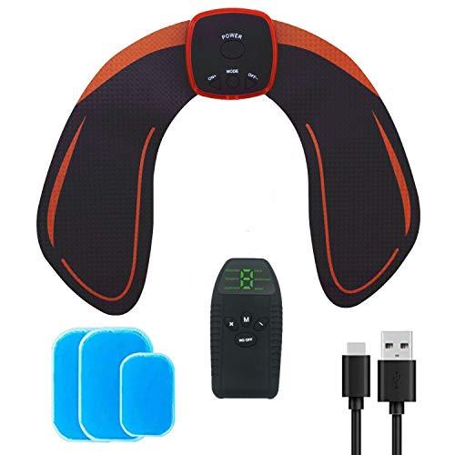 Elettrostimolatore Glutei, Cosce, Gambe; EMS Tonificatore Muscolare Uomo Donna; USB Ricaricabile con telecomando