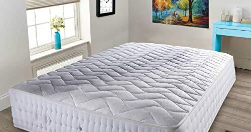 Mattress Haven Pocket Sprung Spring Memory Foam Natural Wool 3000 Mattress6FT - Superking