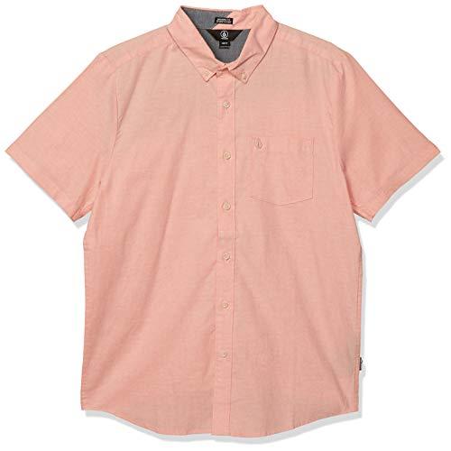 Volcom Herren Everett Oxford S/S Hemd mit Button-Down-Kragen, Lachsfarben, Mittel