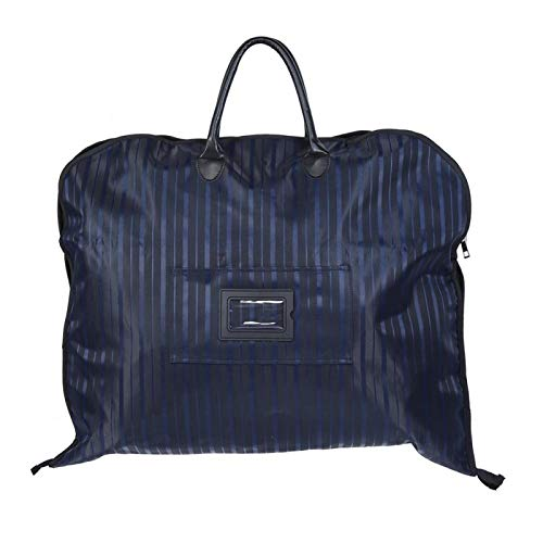 Omabeta Garment Bag Built-in Plastic Plate Hardware Buckle and D Buckle Black/Navy Portable Oxford Cloth for Go on Business(Navy blue)