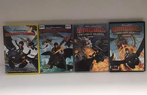 Dragon Trainer 1+2 + Dragons i paladini di Berk vol 1+2 (4 DVD)