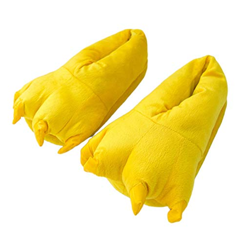 Greatangle-UK Lindas Zapatillas Suaves cálidas de Invierno para Adultos de Chridren, Zapatillas de algodón con Garra de Dinosaurio Monstruo, Divertidos Zapatos informativos para el hogar