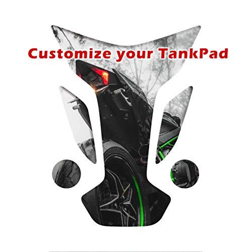 Almohadilla de depósito adhesiva, Motorrad Tankpad, Tankscutz, Protection de resevoir, Personalizado para todas las bicicletas (forma 3)