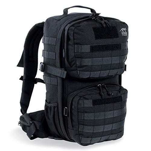 Tasmanian Tiger TT Combat Pack MK II Molle-Kompatibler EDC-Daypack mit vielen Fächern Armee-Rucksack für Damen und Herren 22L Volumen, Schwarz