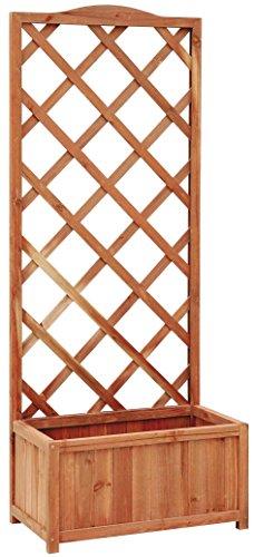 Verdemax 5343 Excelsior - Maceta de Madera (60 x 31 x 150 cm), Color marrón