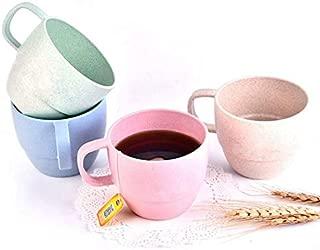 Eco Friendly Healthy Wheat Straw Plastic Cup Set - Multi color -10 oz Capacity - Bio Degradable, Reusable, Light Portable for Eco Conscious Men Women (Multi Color, 8)
