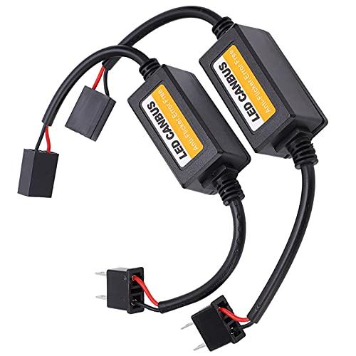 SALALIS Cancelador de Errores para H7, decodificador LED, decodificador de Bus Canbus, Alerta de Falla con Resistencia de Carga y Alarma de Falla para detección de fallas del vehículo