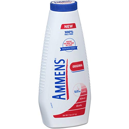 Ammens Medicated Powder, Original Formula, 11 Ounce (Pack of 12)