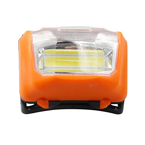 chebao Linterna de cabeza LED, superbrillante, impermeable, ligero, faro de Skywolfeye XPE LED, 3 modos, linterna frontal frontal (naranja)