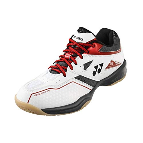 Yonex SHB 36 - Zapatillas de bádminton, color blanco y rojo, color Blanco, talla 45 EU