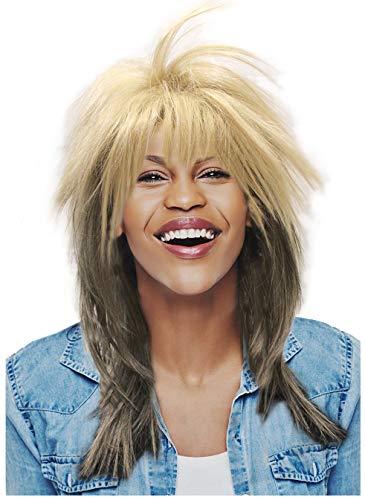 Blonde Rocker Wig Tina Turner Wig 80's Rocker Wig Motown Wig Costume Axl Wig