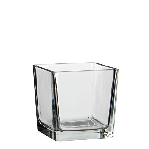MICA Decorations Lotty Vase, Glas, transparent, 12 x 12 x 12 cm