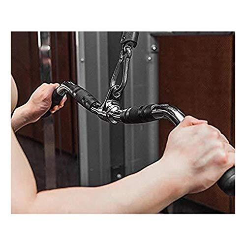 ZLLM Latzugstange LAT Pull-down-Befestigung, Fest Gekrümmte Stange Dreh Hanger, Hauptgymnastik Kabelzubehörtrainingsgummigriff, Trolley Rudergerät Krafttraining (Size : 75cm)