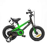 NB Parts - Bicicleta infantil para niños y niñas, BMX, a partir de 3 años, 12 pulgadas / 16 pulgadas, color verde opaco, tamaño 12