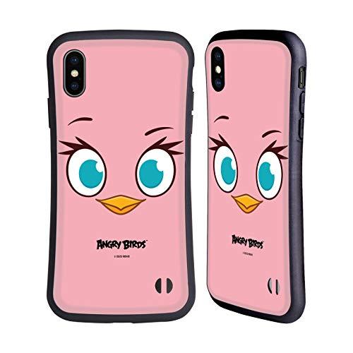 Head Hülle Designs Offiziell Offizielle Angry Birds Pink Volles Gesicht Hybride Handyhülle Hülle Huelle kompatibel mit Apple iPhone XS Max
