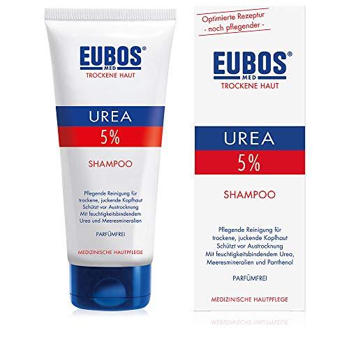 Eubos | 5% UREA Shampoo | 200ml | für trockene Haut | Hautvertäglichkeit dermatologisch bestätigt | Verbesserung Hydratationsfähigkeit der Haut | Spezial-Pflegecreme