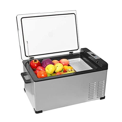 Mini Frigorífico 25L Coche refrigerador COMPRESOR DE FRIFERADOR Universal Mini FREOZER Caja de congelador -20~20 Grados Refrigerador