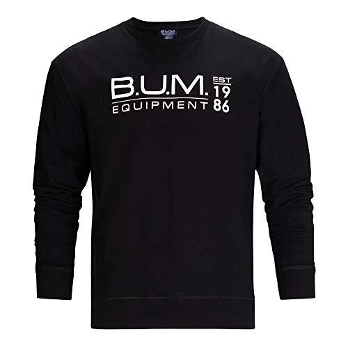 B.U.M. Equipment Men's Pullover French Terry Sweatshirt, Black, Large