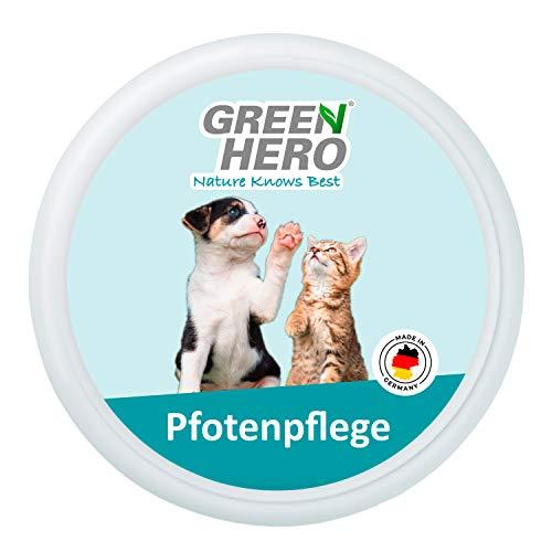 Green Hero Bálsamo para patas de perros y gatos con protección para patas en un solo producto, contra grietas y desecación con aceite de angrika, aceite de colza, aceite de laurel, 75 ml