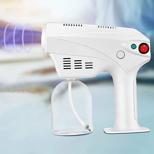 4YANG Máquina de pulverización,máquina de pulverización de desinfección de luz Azul 500ML Pulverizador de Pistola de Vapor Nano 220V para escuelas de hospitales de restaurantes de hoteles